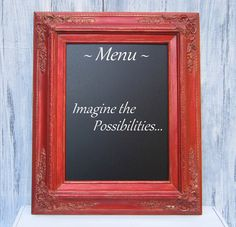 TUSCAN RED Framed CHALKBOARD Unique Birthday by RevivedVintage, $94.00