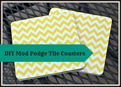 DIY Mod Podge Tile Coasters