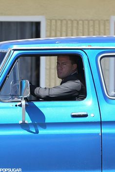 Tatum's character, Mike, is rocking a shiny blue truck.