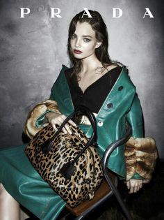 Leopard print handbag I Prada fall 2013 campaign #bag