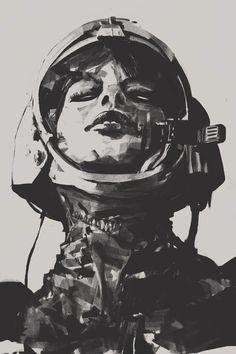 'Spacewoman Study', Mateja Petkovic, 2016