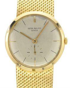 PATEK PHILIPE Swiss Mechanical 18K Gold Men's Watch
