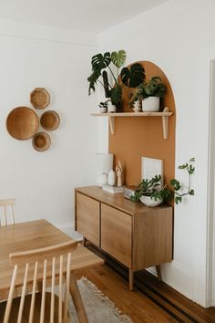 Store dinnerware in its two cabinets while displaying belongings (or a flatscreen) on its well-proportioned top. Each cabinet has one adjustable shelf. Photo by Carla Natalia. Boho Living Room, Living Room Decor, Living Spaces, Boho Room, Cheap Home Decor, Diy Home Decor, Mid Century Modern Sideboard, Room Decor Bedroom, Bedroom Furniture