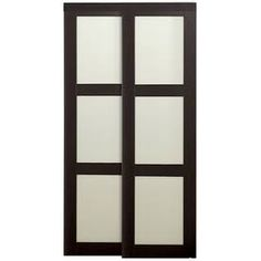 reliabilt 36 in x 80 in espresso 3 lite tempered frosted glass
