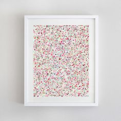 Floral Pattern  3 Color Options  Giclee Print of by BeWildandFree, $15.00