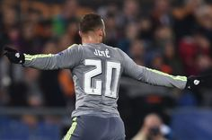 Jese Rodriguez celebrates after scoring the second - Real Madrid
