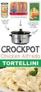 #11. Crockpot Chicken Alfredo Tortellini   12 Mind-Blowing Ways To Cook Meat In Your Crockpot