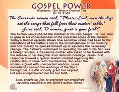Gospel Power - Wednesday, 18th Week in Ordinary Time