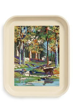 Fishs Eddy 'Deer Paint-By-Number' Tray