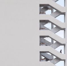 Surreal Minimalist Photography by Serge Najjar Architecture Design, Stairs Architecture, Minimalist Architecture, Facade Design, Contemporary Architecture, Design Design, Serge Najjar, Photo D'architecture, Minimal Photography