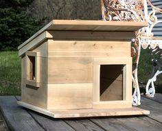 Outdoor Cat House Plans | Unfinished insulated Cat House with Heater on pig cat home, ferret home, dog cat home, mountain lion home, duck home, fast cat home, cat lady home, lizard home, pet cat home, squirrel home, stray cat home, chipmunk home,