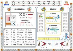 Sous-main CP côté maths Math Addition, Addition And Subtraction, Health Education, Kids Education, School Organisation, 2nd Grade Math, Grade 2, Teaching French, Learn French