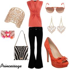Cool Coral, created by princessage.polyvore.com