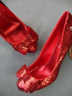 £45 Red Dorothy Style Wedding Shoes