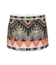 All Saints Aztec Skirt... Now you know where to get that skirt worn by Deepika Padukone in 'Cocktail'. Guess stylist Anaita Adjania also scouts on Pinterest :)