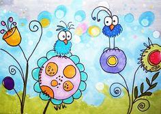 Happy birds doodles