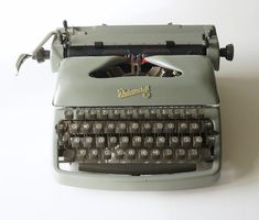 Portable Typewriter, Light Touch, Vintage Typewriters, Red Ribbon, Nostalgia, Conditioner, Germany, It Cast, Stuff To Buy