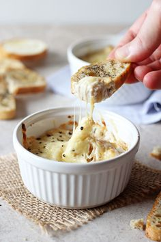 Cheesy French Onion Soup Dip | cookiemonstercooking.com