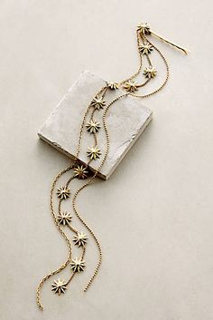 Anthropologie's New Arrivals: Summer Jewelry – Topista Sand Star Tasseled Bobby Pin by Lelet NY Hair Accessories For Women, Jewelry Accessories, Fashion Accessories, Jewelry Design, Hair Jewelry, Jewelry Box, Jewelery, Bohemian Jewelry, Boho