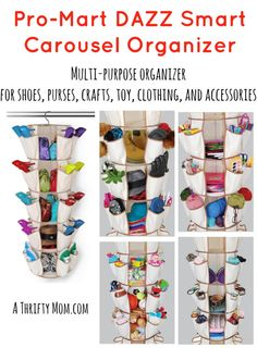 Pro-Mart DAZZ Smart Carousel Organizer - Multi-purpose organizer for shoes, purses, crafts, toys, clothing, accessories - A Thrifty Mom