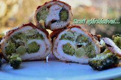 Éhezésmentes Karcsúság Szafival: Brokkolival tekert csirkemell Sushi, Paleo, Healthy Recipes, Dishes, Meat, Baking, Ethnic Recipes, Food, Drink