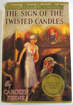 Nancy Drew #9 The Sign of the Twisted Candles Applewood First Edition Print HBDJ - Children's Books