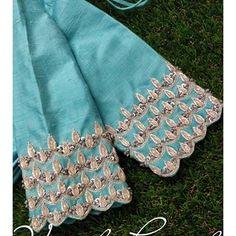 Hand Work Blouse Design, Simple Blouse Designs, Fancy Blouse Designs, Saree Blouse Designs, Kids Lehanga Design, Maggam Work Designs, Embroidered Silk, Sleeve Designs, Maggam Works