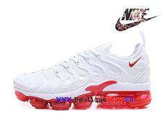 Nike Air VaporMax Plus Chaussures Nike TN 2018 Pas Cher Pour Cher Homme  Blanc Rouge AO4550-ID9-Nike Boutique de Chaussure Baskets Site Officiel ... 79ce2f0af77e