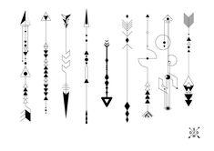 Tattoo in l ryuzaki boards tattoo ideas arquitectura tatuaje Geometric Arrow Tattoo, Arrow Tattoo Design, Geometric Tattoo Design, Geometric Sleeve, Mini Tattoos, Cute Tattoos, Body Art Tattoos, Tatoos, Colombe Tattoo