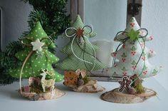 3er Set Tannenbäume Tanne stehend Weihnachten X-Mas Landhaus Tilda Stoff Advent in Möbel & Wohnen, Dekoration, Sonstige | eBay