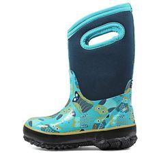 Bogs Kids' Classic Owl Winter Boot Toddler/Pre/Grade School Boots (Blue Multi)