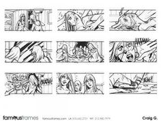 FamousFrames Storyboards, Animatic Artists, Storyboard Artists, Craig Gilmore