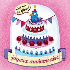 Carte Joyeux anniversaire + enveloppe - Editions de mai - 14 x 14 cm - Bureau/Carterie - espritlogis-fr