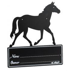 "Plaque de box ""Silhouette de cheval"""
