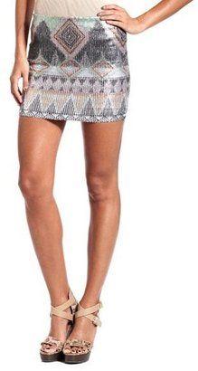 ShopStyle: Aztec Print Sequin Skirt