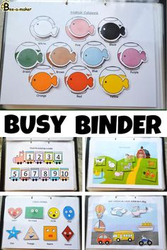Toddler learning busy binder or busy book