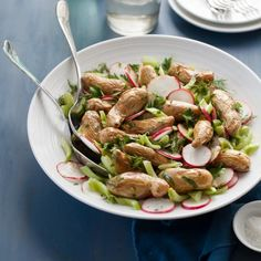 ... salad with roasted fingerling potatoes, celery, radishes and herbs