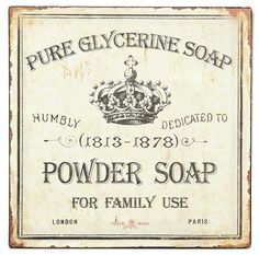 glycerine soap label