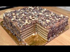 Reteta perfecta a tortului de biscuiti/ The Perfect No-Bake Biscuit Cake Recipe - YouTube Biscuit Cake, No Bake Desserts, Food Cakes, Cake Recipes, Biscuits, Cheesecake, Deserts, Food And Drink, Ethnic Recipes