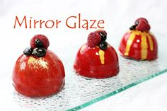 Two versions of the famous Mirror Glaze recipe for ultra shiny mirror finish cakes. Vegetarian version and original gelatin version