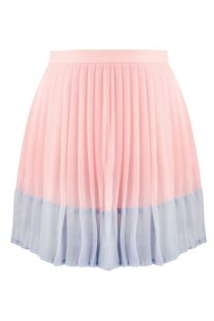 Macaroon Baby Pink and Blue Pleated Skirt #pink