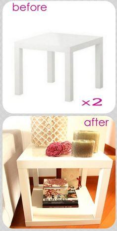 ¡Hola! Hoy os traigo unas cuantas ideas para hacer DIY con las mesas lack de Ikea. El precio de la mesa está entre 9,99€ y 14,99€ (el pre...