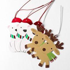 Polar Bear & Reindeer Assorted Gift Tags