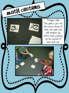 Freebie Penguin War Math Cards