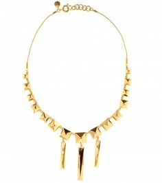 #MarcbyMarcJacobs - STUD STATEMENT GOLD-TONED NECKLACE