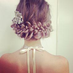 The Sweet Closet ♡の画像 Pretty Braids, Beautiful Braids, Bride Hairstyles, Pretty Hairstyles, Wedding Hair And Makeup, Hair Makeup, Hair Arrange, Wedding Hair Inspiration, Hair Creations