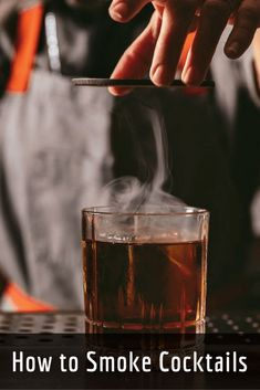 All over the country, bars are employing smoke to add depth, complexity, and extra flavor to cocktails. But you don't have to be an expert to enjoy this smoky trend. With some basic equipment and a few tips, you can begin smoking your cocktails at home. Smoked Cocktails, Bourbon Cocktails, Winter Cocktails, Whiskey Drinks, Craft Cocktails, Cocktail Garnish, Champagne Cocktail, Cocktail Drinks, Cocktail Recipes