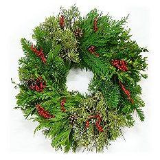 Christmas Wreath - Christmas Garland - Christmas Tree Garland - Grandin Road