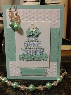 Stampin Up wedding card! Inspired by the handmade jewelry.