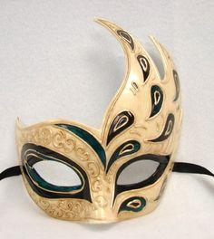 Peacock Farfallina Eye Mask partyoasis.com
